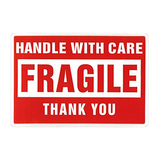 "2 x 3"" Fragile Stickers Handle With Care [1 Roll, 500 ..."
