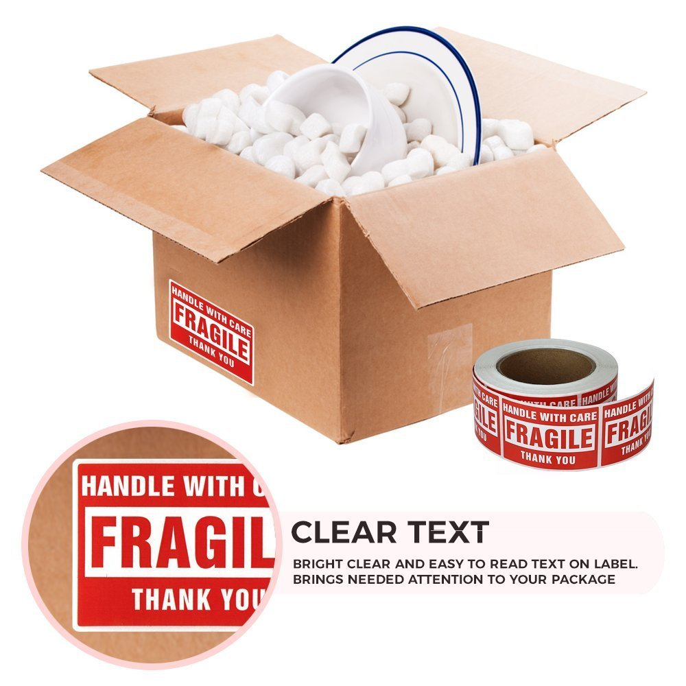Fragile Stickers for Moving