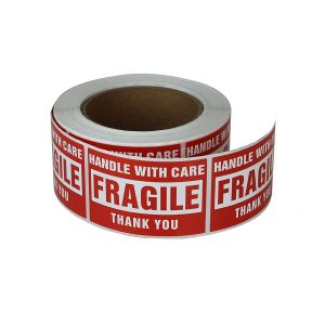 "2 x 3"" Fragile Stickers Handle With Care [1 Roll"