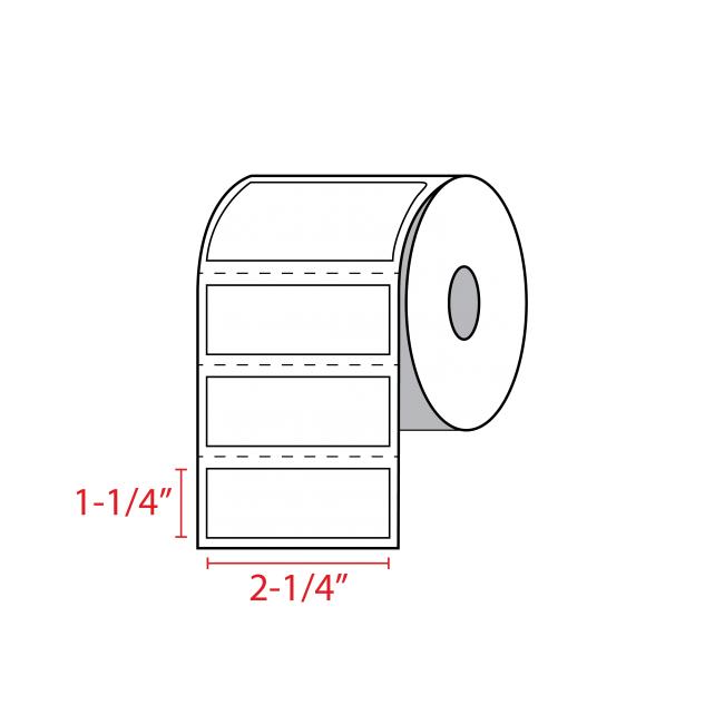 Zebra Label Sizes 2-1/4″ x 1-1/4″