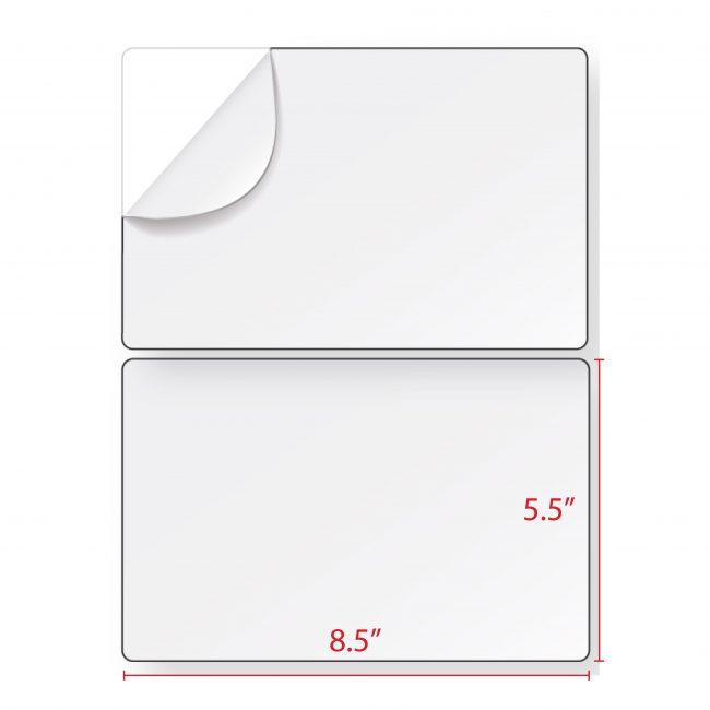 Half Sheet Shipping Labels – 8.5″ x 5.5″