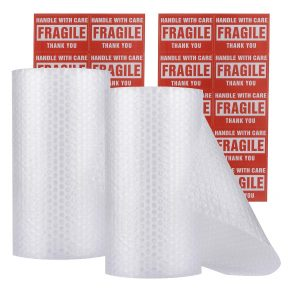 2-Rolls Bubble Wrap (Total: 12 in x 60 ft)
